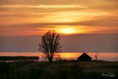 IJsselmeer met vogelkijkhut De Ral